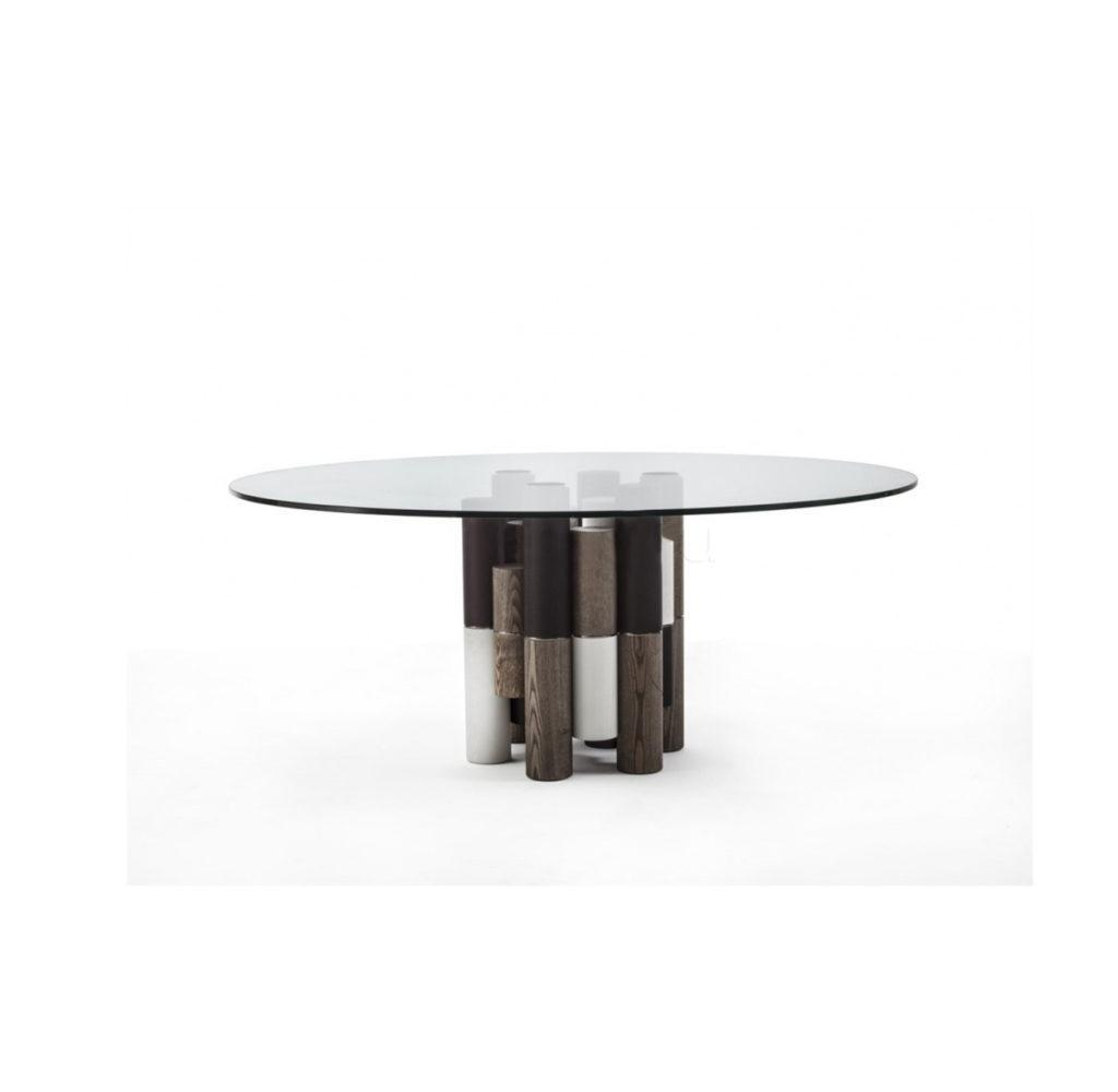 Стеклянный обеденный стол Pilar