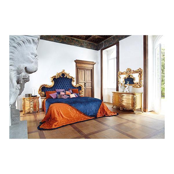 Двуспальная кровать Aura ART. 7782_4L KING-SIZE BED WITH CAPITONNÉ HEADBOARD AND PADDED BEDFRAME
