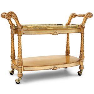 Сервировочный столик Carelli ART. 451 TROLLEY, WITH CRYSTAL TOP