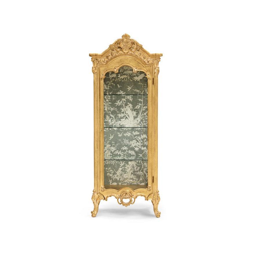 Сервант ART. 570 1-DOOR GLASS CABINET WITH ENGRAVED CRYSTALS