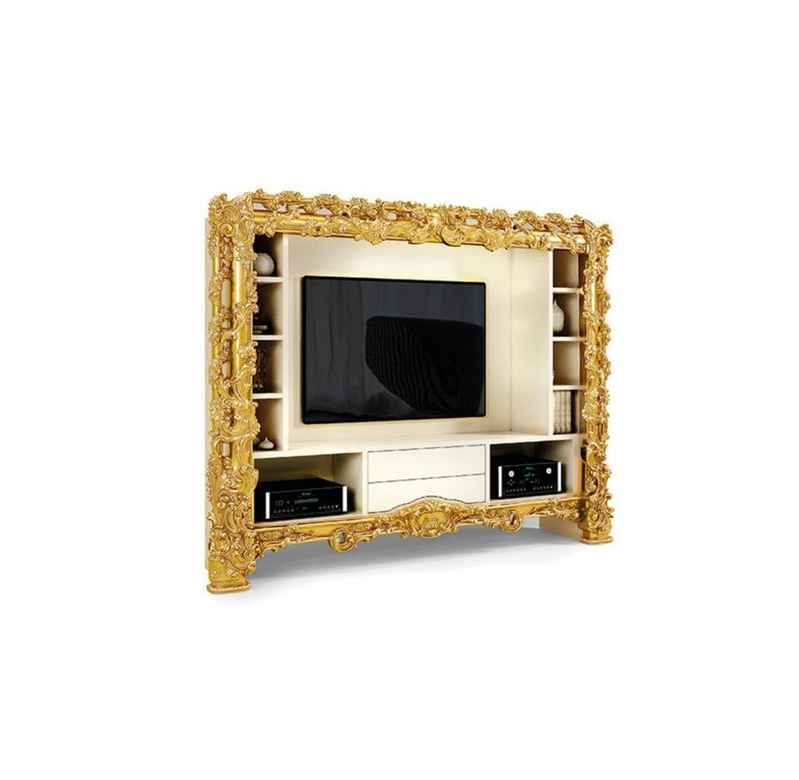 Стойка ТВ ART. 5960 TV STAND WITH TWO DRAWERS AND OPEN SHELVING