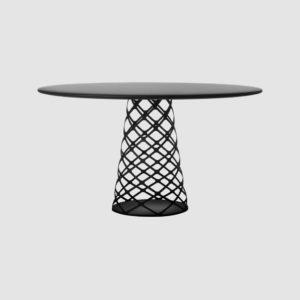 Aoyama Dining Table - Dia.130 - Black base