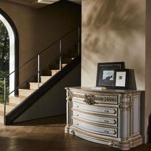 Кровать Niobe ART. 761 DOUBLE BED WITH WOODEN PANELS