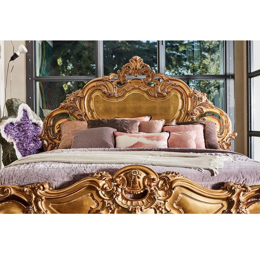 Роскошная кровать Olimpia ART. 791 DOUBLE BED WITH WOODEN PANELS