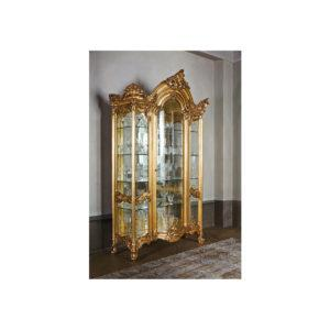 Витрина Apollonio ART. 9971 1-DOOR GLASS CABINET WITH ENGRAVED CRYSTALS AND 1 DRAWER
