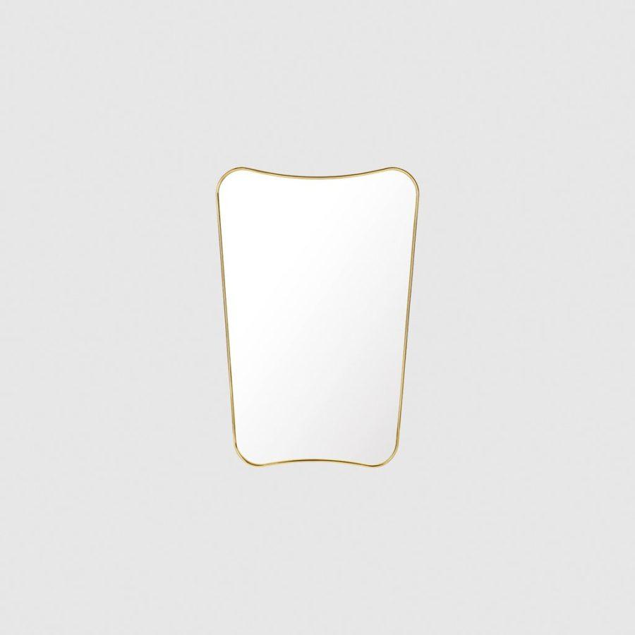 Настенное зеркало F.A. 33 WALL MIRROR, 58X80 Polished Brass