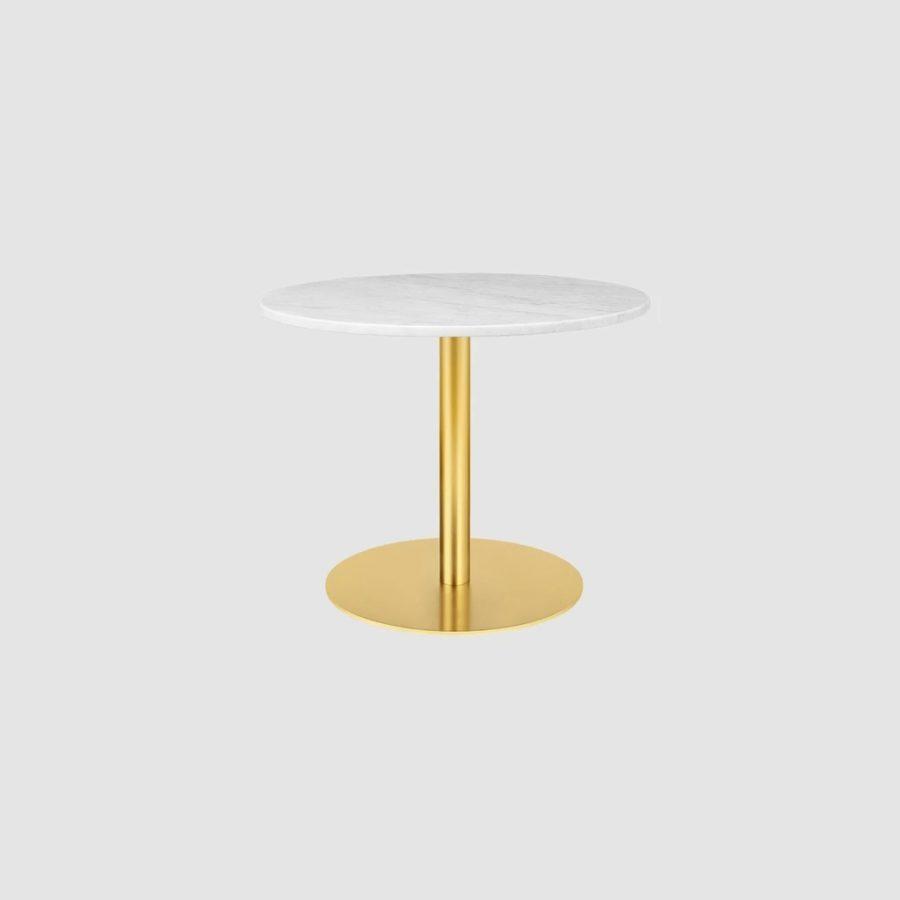 Стол GUBI 1.0 Lounge Table - Round - Dia. 80 - Brass base