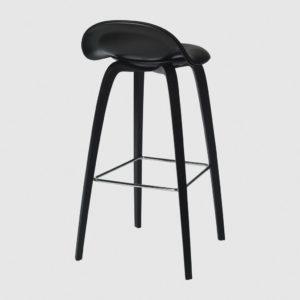 3D BAR STOOL - FRONT UPHOLSTERED, 75, WOOD BASE, HIREK SHELL