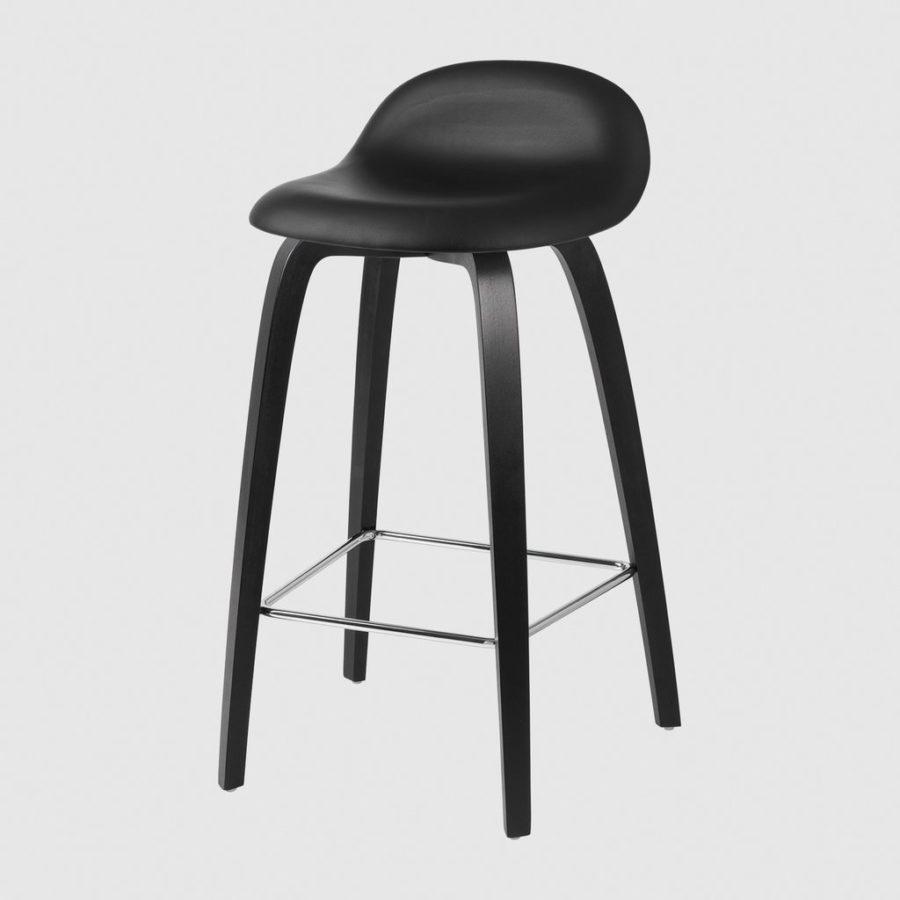 Стильный барный стул 3D Counter Stool - Fully Upholstered - 65 cm - Wood base