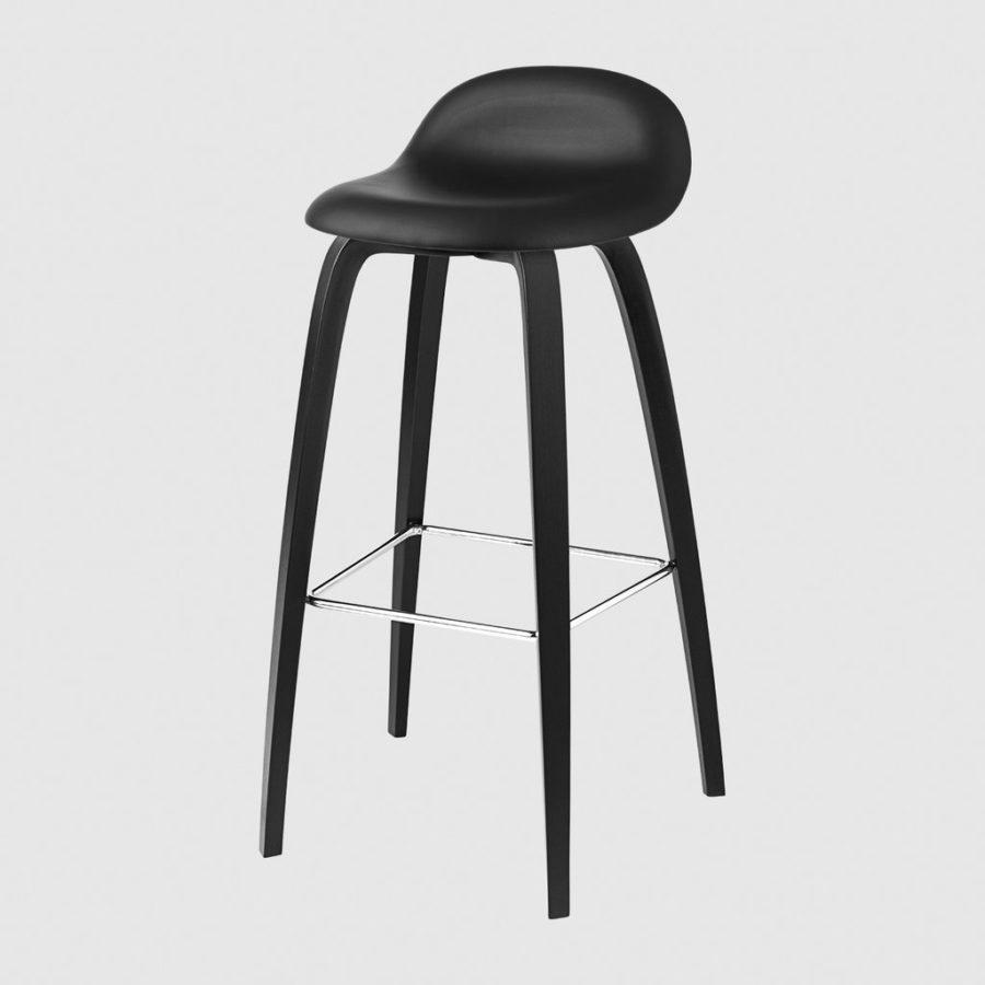 Барный стул 3D Bar Stool - Fully Upholstered - 75 cm - Wood base