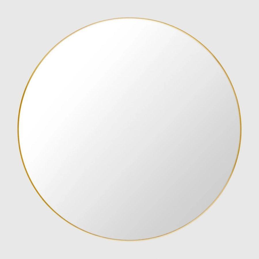Настенное зеркало GUBI WALL MIRROR, ROUND, Ø110 Polished Brass