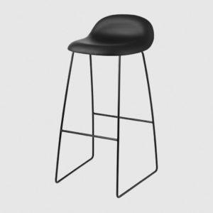 3D BAR STOOL - FULLY UPHOLSTERED, 75, SLEDGE BASE