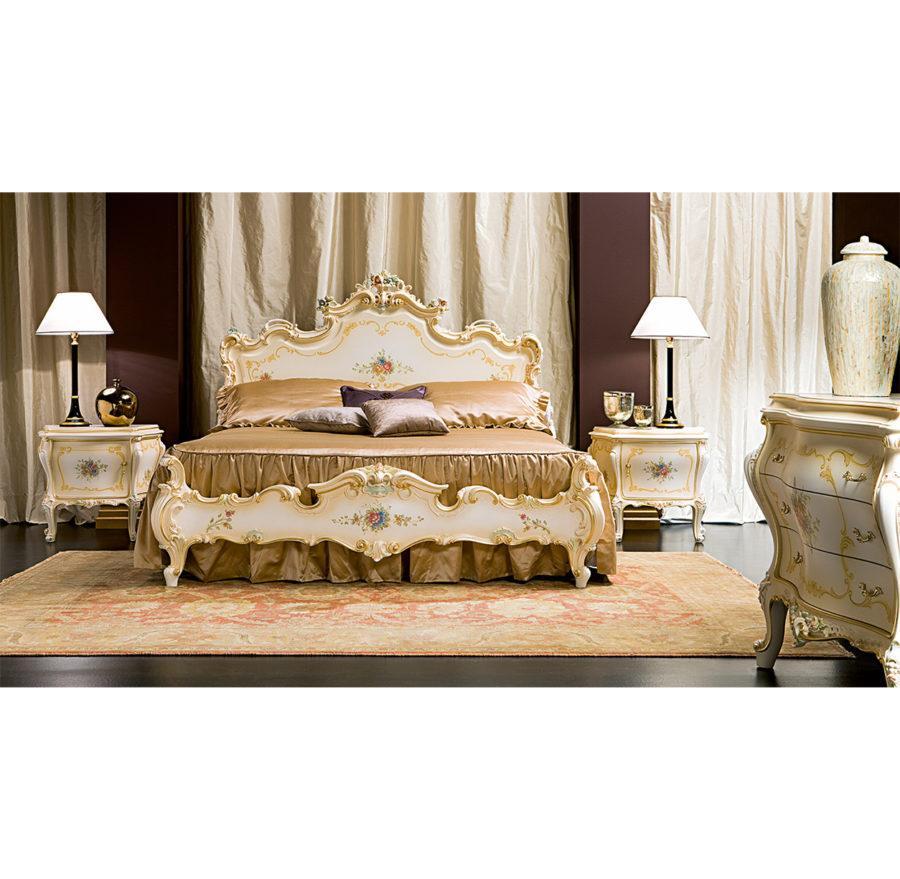 Кровать Elena ART. 721 DOUBLE BED WITH DECORATED PANELS