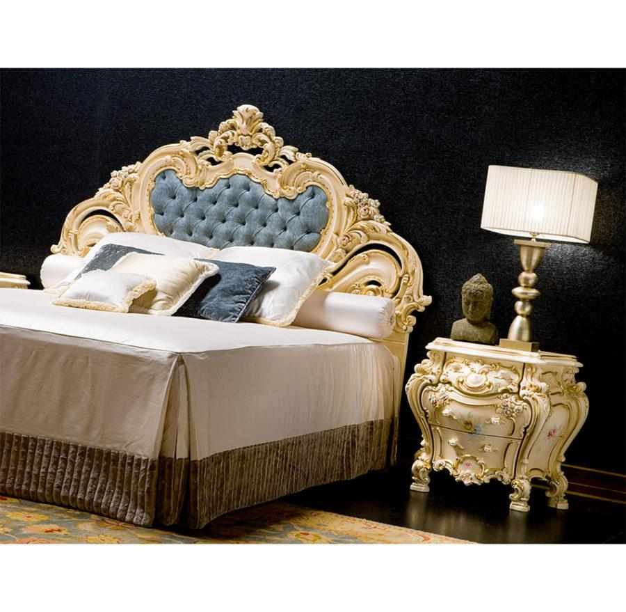 Двуспальная кровать Olimpia ART. 792/L DOUBLE BED WITH PADDED HEADBOARD AND PADDED FRAME