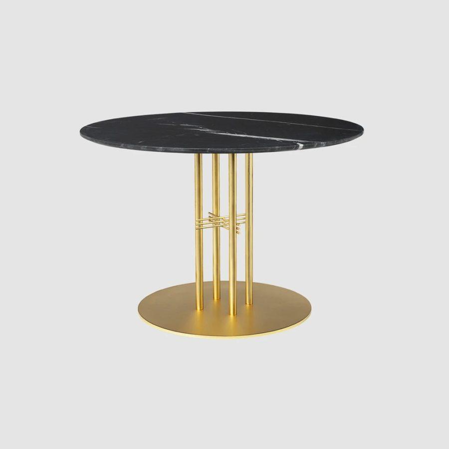 Круглый обеденный стол TS Column - Dining Table - Dia. 110 - Brass base